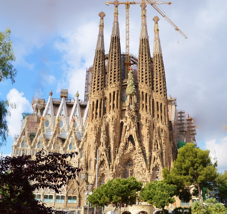 This is an image of La Sagrada Familia
