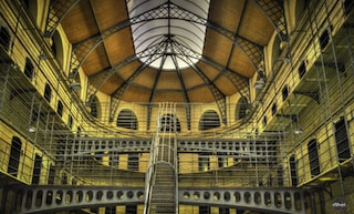 A picture of the Kilmainham Gaol, probably the most famous Irish Jail now a museum