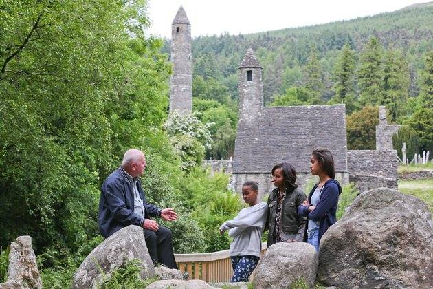 this image is a shoot in Glendalough with Obama's family visit.