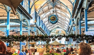 here is the halles of dijon and its burgundian foods.