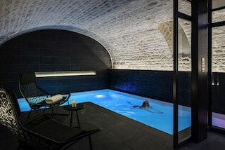 this image is a shoot of the luxurious spa at Grand Hotel La Cloche in Dijon