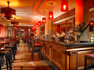 This picture shows the Bar of the O'Callaghan Stephen's Green Hotel