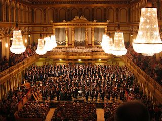 this image shows you the prestigious Opera room of Vienna