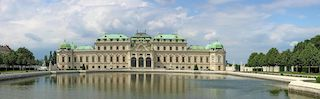 this picture is a shoot of Belvedere Palace, a fantastic monument of the city.