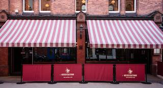 this pictures is a shoot of L'Gueuleton restaurant entrance in Dublin