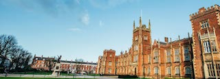 this picture is a shoot of Queen's University Belfast on a sunny day