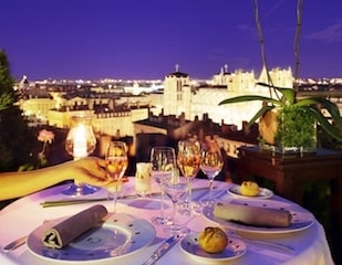 this picture is the view from Villa florentine terrace at night.